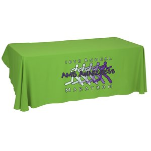 Economy Open-Back Polyester Table Throw - 8' - Heat Transfer Main Image