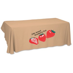 Economy Open-Back Poly Table Throw-6'- Heat Transfer - 24 hr Main Image