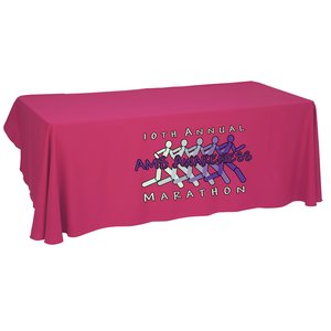 Economy Open-Back Poly Table Throw-8'- Heat Transfer - 24 hr Main Image