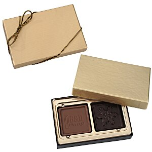 Molded Chocolate Squares - 2 Pieces