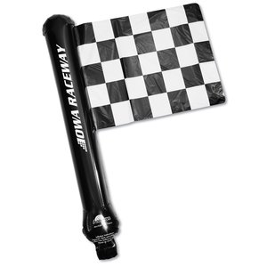 Rally Flag Balloon - Checkered Flag - Closeout Main Image