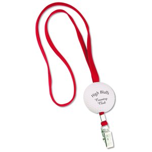 Sport Foam with Lanyard - Golf Ball - Closeout Main Image