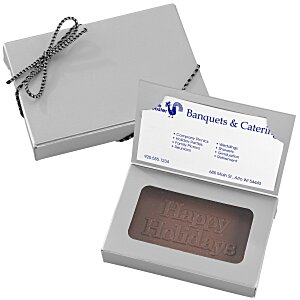 Business Card Chocolate Treat - Happy Holidays Main Image