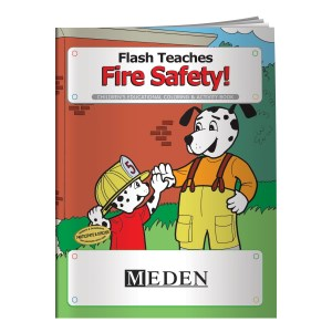 Flash Teaches Fire Safety Coloring Book - Overstock Main Image