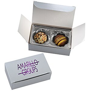 Truffles - 2 Pieces - Silver Box Main Image
