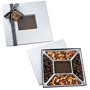 Treat Mix - 1.25 lbs. - Silver Box - Milk Chocolate Bar Main Image