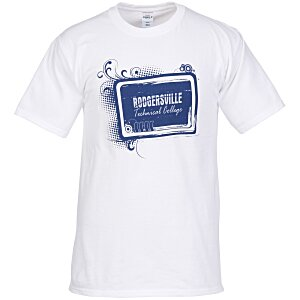 Hanes Tagless T-Shirt - Screen - White - Tech Design Main Image