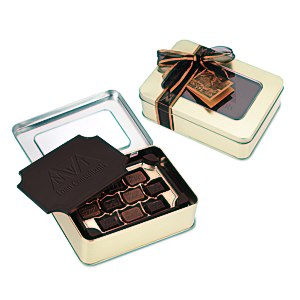 Dark Chocolate Box with Chocolate Bites - Large Main Image