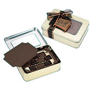 Milk Chocolate Box with Chocolate Bites - Large Main Image