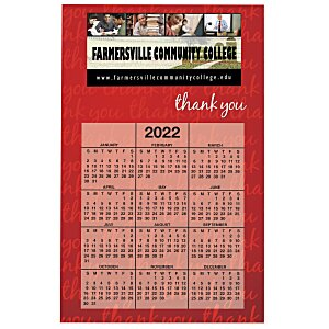 Bic 20 mil Calendar Magnet - Thank You - 24 hr Main Image