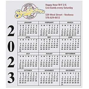 Bic 20 mil Calendar Magnet - Small - 24 hr Main Image