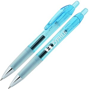 Bic Intensity Clic Gel Rollerball Pen - Translucent - 24 hr