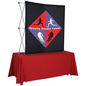 Splash Curved Tabletop Display - 5' - Front Graphics Main Image