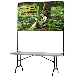 Tabletop Banner System with Back Wall - 6' Main Image