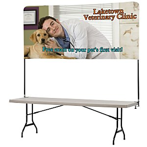 Tabletop Banner System w/Back Wall - 8' Main Image