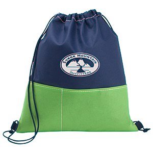 Patch Pocket Drawstring Sportpack - 24 hr Main Image