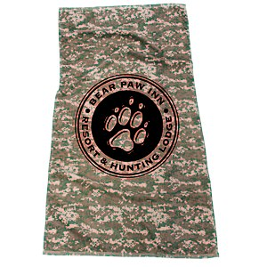 Camo Beach Towel Main Image