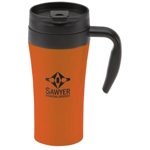Double Lock Stainless Travel Mug - 16 oz. - Closeout Main Image