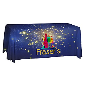 Open-Back Polyester Table Throw - 6' - Full Color Main Image