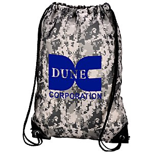 "Drawstring Sportpack - 18"" x 14"" - Digital Camo - 24 hr Main Image"
