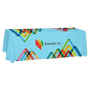 Open-Back Polyester Table Throw - 8' - Full Color Main Image