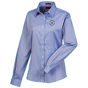 Wrinkle-Free Pinpoint Dress Shirt - Ladies' Main Image