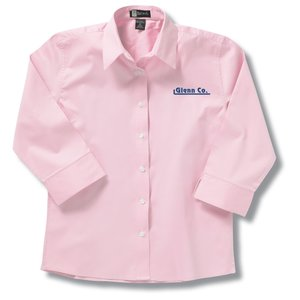 Easy Care 3/4 Sleeve Dress Shirt - Ladies' - Closeout Main Image