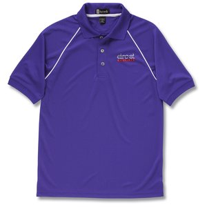 Moisture Management Polo with Piping - Men's - Closeout Main Image