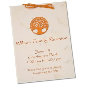 "Seeded Invitation/Program - 7"" x 5"" - Carrot Main Image"