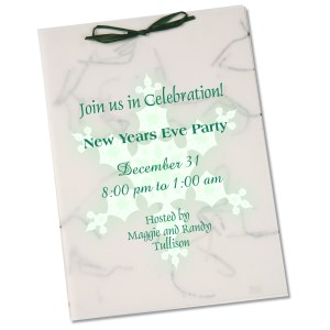 "Seeded Invitation/Program - 7"" x 5"" - Wildflower Money"