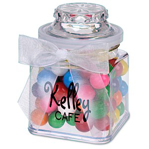 Plastic Goody Jar - Rainbow Bubble Gum Main Image