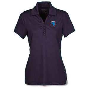 Maze Stretch Embossed Print Polo - Ladies' Main Image