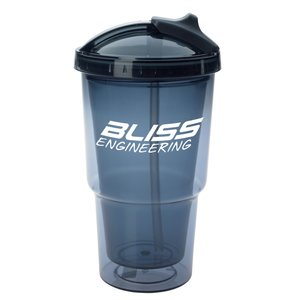 Sippin' & Slidin' Tumbler with Straw - 16 oz.