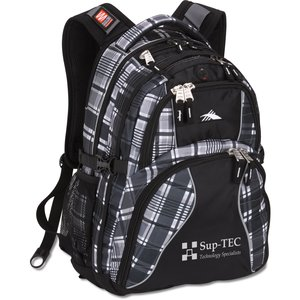High Sierra Swerve Laptop Backpack - Plaid Main Image
