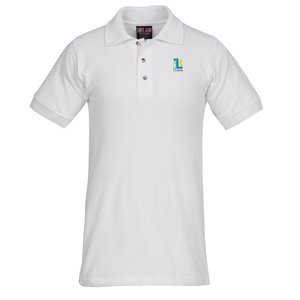 Bayside USA Made Cotton Sport Shirt - White Main Image