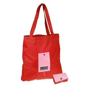 Mini Pocket Fold-Up Tote - Closeout Main Image