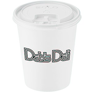 Paper Hot/Cold Cup with Tear Tab Lid - 10 oz. Main Image