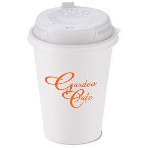 Paper Hot/ Cold Cup - 12 oz. w/Traveler Plus Lid Main Image