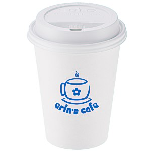 Paper Hot/Cold Cup with Traveler Lid - 12 oz. Main Image