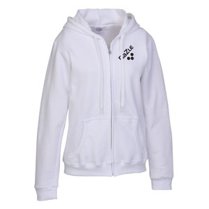 Gildan Full-Zip Hoodie - Ladies' - Screen - White Main Image
