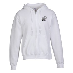 Gildan Full-Zip Hoodie - Men's - Screen - White
