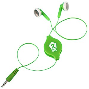 Retractable Colored Ear Buds Main Image
