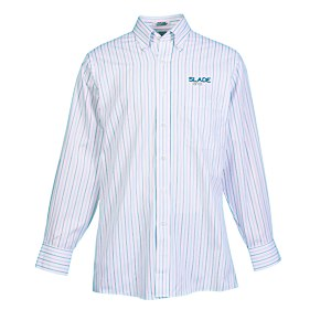 Van Heusen Pinpoint Oxford - Men's - Multi-Stripe Main Image