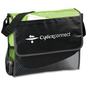 Laminated Messenger Bag - Closeout Main Image