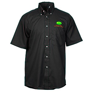 Soil Release Button Down SS Poplin Shirt - Men's - 24 hr Main Image