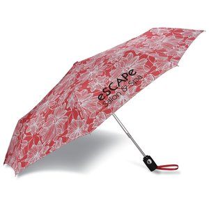 totes Auto Open/Close Umbrella - Floral - 24 hr Main Image