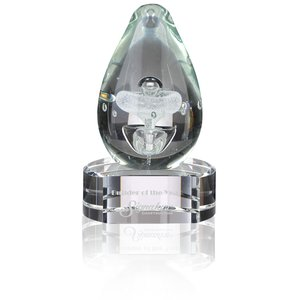 Polar Art Glass Award - Clear Base Main Image