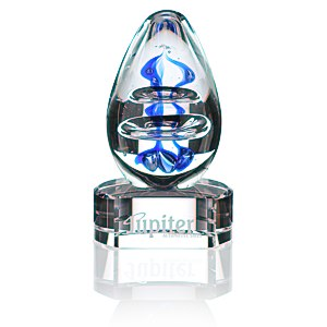 Atom Art Glass Award - Clear Base Main Image