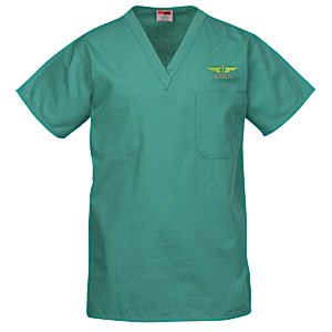 Cornerstone V-Neck Scrub Top - Embroidered Main Image