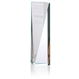 "Skyline Sheared Crystal Tower Award - 10"" Main Image"
